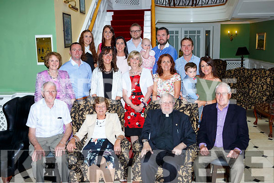 Fr William Collins Currow celebrated his Golden Jubilee with his family and friends in the Dromhall Hotel Killarney on Sunday