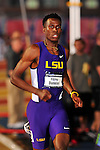 11 MAR 2016:  Fitzroy Dunkley of Louisiana State University competes in the 400m Dash during the Division I Men's Indoor Track & Field Championship held at the Birmingham Crossplex in Birmingham, Al. Tom Ewart/NCAA Photos