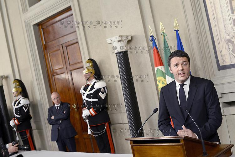 Roma, 17 Febbraio 2014<br /> Matteo Renzi riceve l'incarico dal Presidente della Repubblica per la formazione del nuovo Governo.<br /> The President of the Republic gives the task to Matteo Renzi for the formation of the new government