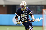 23 April 2016: Notre Dame's Robert Collins. The University of North Carolina Tar Heels hosted the University of Notre Dame Fighting Irish at Kenan Stadium in Chapel Hill, North Carolina in a 2016 NCAA Division I Men's Lacrosse match. UNC won the game 17-15.