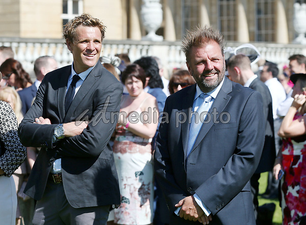 25 May 2017 - James Cracknell and Martin Roberts during the Royal Society for the Prevention of Accidents (RoSPA) Centenary Garden Party at Buckingham Palace, London. Photo Credit: ALPR/AdMedia
