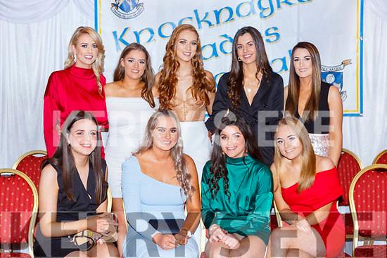 Talented Footballers at the Knocknagree ladies GAA social in the Killarney Avenue Hotel on Saturday night front row l-r: Ciara Murphy, Catrine Jones, Shauna O'Neill, Katie Ring, Back row: Lorna Cronin, Sinead O'Keeffe, Sinead Horgan, Danielle O'Connor and Norita O'Leary