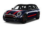 2019 Mini Clubman John Cooper Works ALL4 5 Door Wagon angular front stock photos of front three quarter view