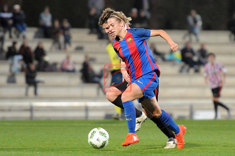 Spanish Women's Football League Iberdrola 2016/17 - Game: 11.<br /> FC Barcelona vs Athletic Club: 2-1.<br /> Barbara Latorre.