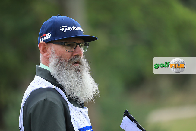 Caddie during the second round of the Porsche European Open , Green Eagle Golf Club, Hamburg, Germany. 06/09/2019<br /> Picture: Golffile | Phil Inglis<br /> <br /> <br /> All photo usage must carry mandatory copyright credit (© Golffile | Phil Inglis)