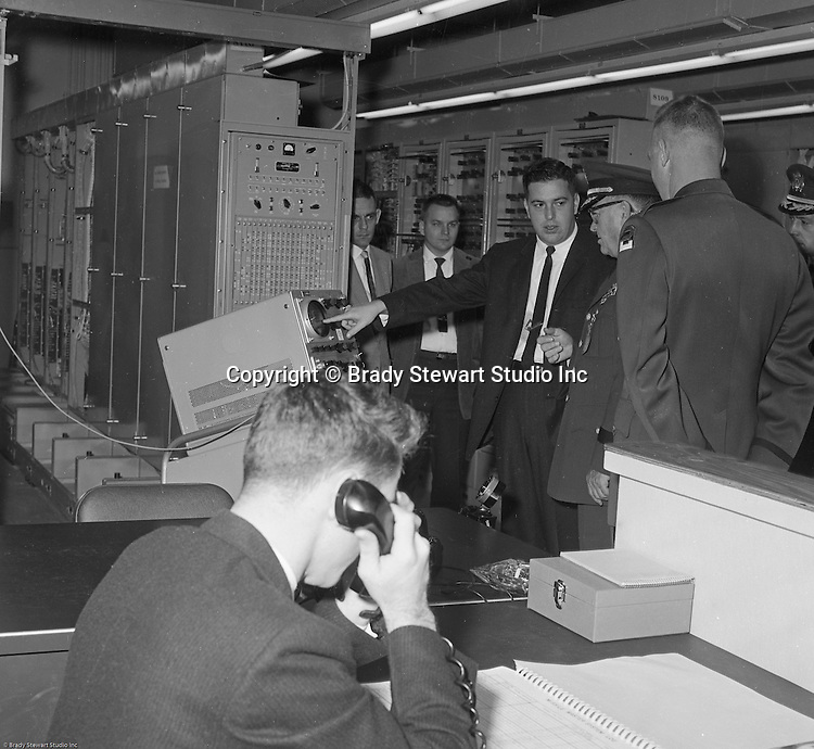 Pittsburgh PA:  US Army Chief of Staff George H Decker and his staff touring the Oakdale PA NIKE facility - 1962.<br /> The Oakdale site became the command and control center for all the regional NIKE sites after the installation.  <br /> Brady Stewart Jr. was authorized to photograph the press conference and tour the new command center due to being a US Army staff photographer during WWII.
