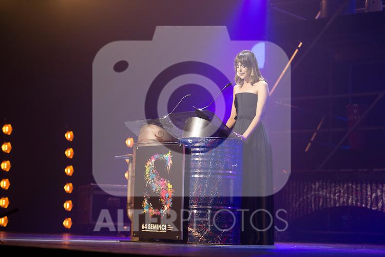 Actress Belen Cuesta during 64 Seminci´s opening gala. October 19,2019. (ALTERPHOTOS/IVAN TOME)