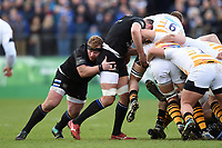 Jacques van Rooyen of Bath Rugby in action. Heineken Champions Cup match, between Bath Rugby and Wasps on January 12, 2019 at the Recreation Ground in Bath, England. Photo by: Patrick Khachfe / Onside Images