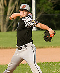 OXFORD, CT-062217JS17- Oakville's Connor Sullivan (8) delivers a pitch during their American Legion Zone 5 game with Oxford Post 174 Thursday at Oxford High School. Jim Shannon Republican-American