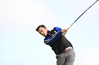 Jamie Sutherland (Galgorm Castle) on the 16th tee during Round 2 of The East of Ireland Amateur Open Championship in Co. Louth Golf Club, Baltray on Sunday 2nd June 2019.<br /> <br /> Picture:  Thos Caffrey / www.golffile.ie<br /> <br /> All photos usage must carry mandatory copyright credit (© Golffile   Thos Caffrey)