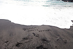 Maui, Hawaii. the black sand beach at Waianapanapa State Park in Hana, Maui, HI.