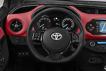 Car pictures of steering wheel view of a 2018 Toyota Yaris Two tone 5 Door Hatchback