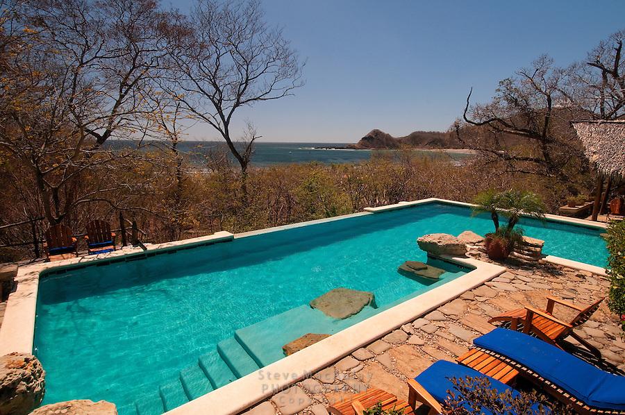 View of infinity pool at Morgan's Rock Hacienda and Eco Lodge, Nicaragua