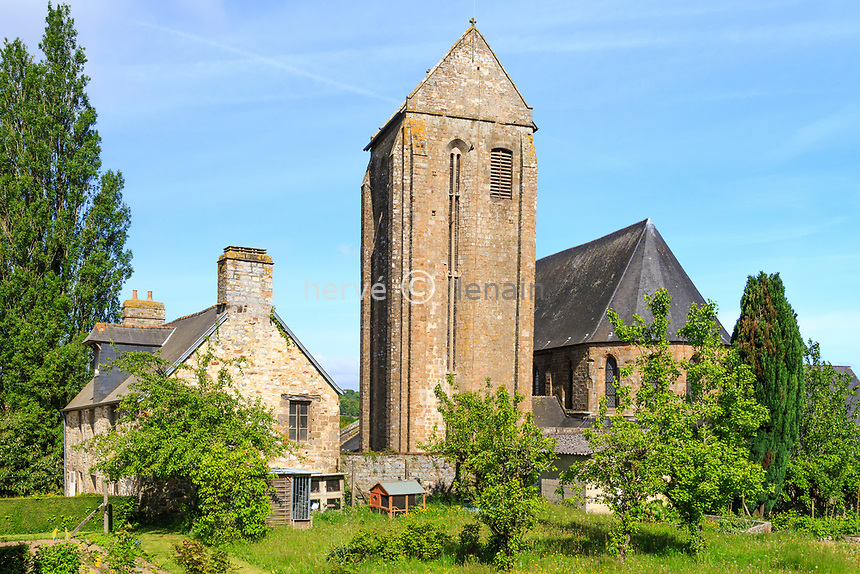 France, Manche (50), Mortain-Bocage, collégiale Saint-Évroult // France, Manche, Mortain Bocage, Saint Evroult collegiate church