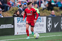 Allston, MA - Sunday, May 1, 2016:  Portland Thorns FC defender Meghan Klingenberg (25) in a match against the Boston Breakers at Jordan Field, Harvard University.