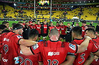 during the Super Rugby match between the Hurricanes and Crusaders at Westpac Stadium in Wellington, New Zealand on Friday, 29 March 2019. Photo: Dave Lintott / lintottphoto.co.nz