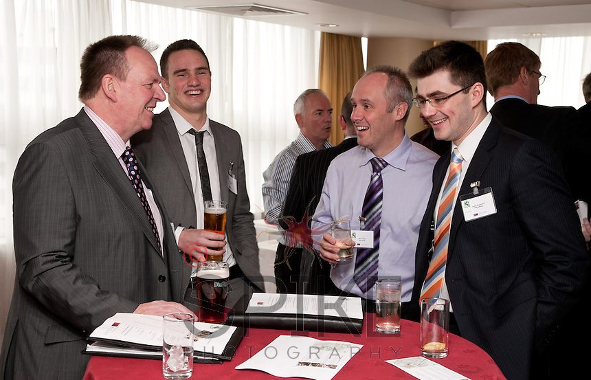 Sharing a laugh are from left Paul Richie of Foremost Security, Justin Boucher of SWA and Simon Perkins and Adam Kingswood of Pure Lettings
