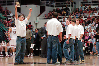 12 February 2005: Stanford Cardinal Wrestling Team and Matt Gentry during Stanford's 71-56 win against the California Golden Bears at Maples Pavilion in Stanford, CA.