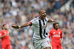 Salomon Rondon celebrates scoring the first goal of the game for West Bromwich Albion during the Barclays Premier League match at The Hawthorns.  Photo credit should read: Malcolm Couzens/Sportimage