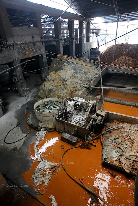 A view of the Changsha Xianghe Chemical Factory in Shuangqiao Village, Hunan Province, China on 13 August 2009.  The chemical plant has been shut down on suspected inadequate waste treatment that may have led to water and soil contamination that caused illness and death within the village of Shuangqiao.