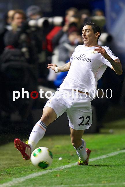 MADRID. ESPAÑA. FÚTBOL.<br /> Football match during La Copa del Rey (Spain);  04/01/2014.<br /> En la imagen :<br /> 22Angel di Maria (Real Madrid)
