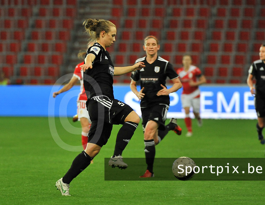 20131009 - LIEGE , BELGIUM : Glasgow Eilish McSorley pictured during the female soccer match between STANDARD Femina de Liege and  GLASGOW City LFC , in the 1/16 final ( round of 32 ) first leg in the UEFA Women's Champions League 2013 in stade maurice dufrasne - Sclessin in Liege. Wednesday 9 October 2013. PHOTO DAVID CATRY