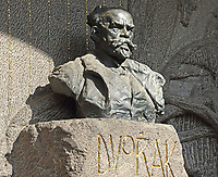 Monument to composer Dvorak in the cemetary at Vysehrad, Prague, Czech Republic on February 28th to March 3rd 2018<br /> CAP/ROS<br /> &copy;ROS/Capital Pictures