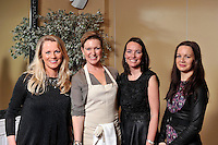 Pictured with Celebrity chef Rachel Allen at her cookery demonstration in the Muckross Park Hotel Killarney at the weekend were from left,  Deirdre O'Rourke, Cullen, Lorraine Singleton, Cork and Deirdre O'Neill, Cork.<br /> Picture by Don MacMonagle<br /> <br /> free photo from Muckross Park Hotel