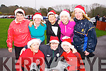 Taking part in the Santa 5k fun run at Tralee Bay Wetlands on Sunday were l-r: Moira Lynott, Fidelma Fitzgerald and Niamh Dillon. Back l-r: Mary Cronin, Evelyn Goggin, Theresa Cronin, Rose Dillon and Sheila O'Neill.