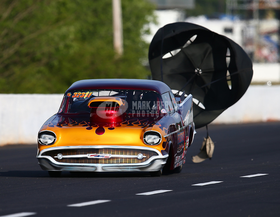 May 4, 2018; Commerce, GA, USA; NHRA top sportsman driver Bob Mandell III during qualifying for the Southern Nationals at Atlanta Dragway. Mandatory Credit: Mark J. Rebilas-USA TODAY Sports