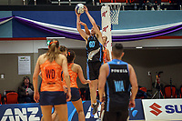 NZ Men's Daniel Rich claims the ball during the Cadbury Netball Series match between NZ Men and All Stars at the Bruce Pullman Arena in Papakura, New Zealand on Friday, 28 June 2019. Photo: Dave Lintott / lintottphoto.co.nz