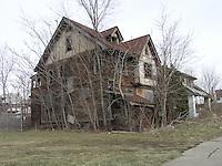 Detroit: downtown, il centro della città. Una vecchia villa abbandonata. Intorno un prato secco e alberi spogli.