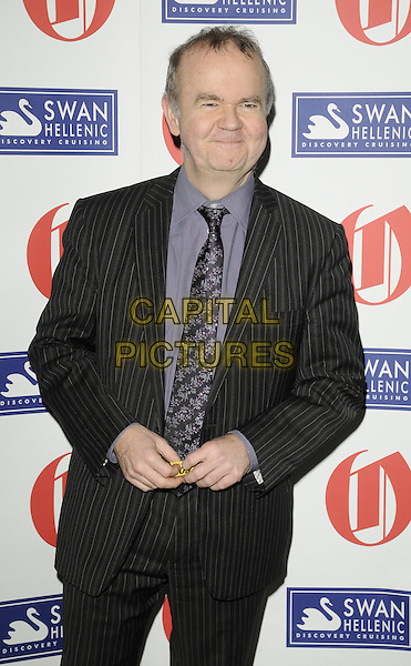 IAN HISLOP.The Oldie Of The Year Awards at Simpsons On The Strand, London, England..February 10th, 2011.half length suit jacket shirt tie black purple tie.CAP/CAN.©Can Nguyen/Capital Pictures.