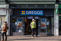 Pictured: A general view of Greggs Swansea City Centre during the Covid-19 Coronavirus pandemic in Wales, UK, Swansea, Wales, UK. Monday 23 March 2020