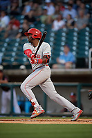 Chattanooga Lookouts Ibandel Isabel (45) at bat during a Southern League game against the Birmingham Barons on May 2, 2019 at Regions Field in Birmingham, Alabama.  Birmingham defeated Chattanooga 4-2.  (Mike Janes/Four Seam Images)