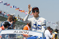 March 17, 2019: Alexander Albon (THA) #23 from the Red Bull Toro Rosso Honda team waves to the crowd during the drivers parade prior to the start of the 2019 Australian Formula One Grand Prix at Albert Park, Melbourne, Australia. Photo Sydney Low