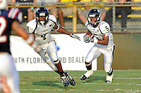 30 October 2010:  FIU wide receiver Wayne Times (5) returns a kick in the third quarter as the Florida Atlantic University Owls defeated the FIU Golden Panthers, 21-9, at Lockhart Stadium in Fort Lauderdale, Florida.