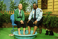 WON'T YOU BE MY NEIGHBOR? (2018)<br /> Fred Rogers (left) with Francois Scarborough Clemmons (right)<br /> *Filmstill - Editorial Use Only*<br /> CAP/FB<br /> Image supplied by Capital Pictures