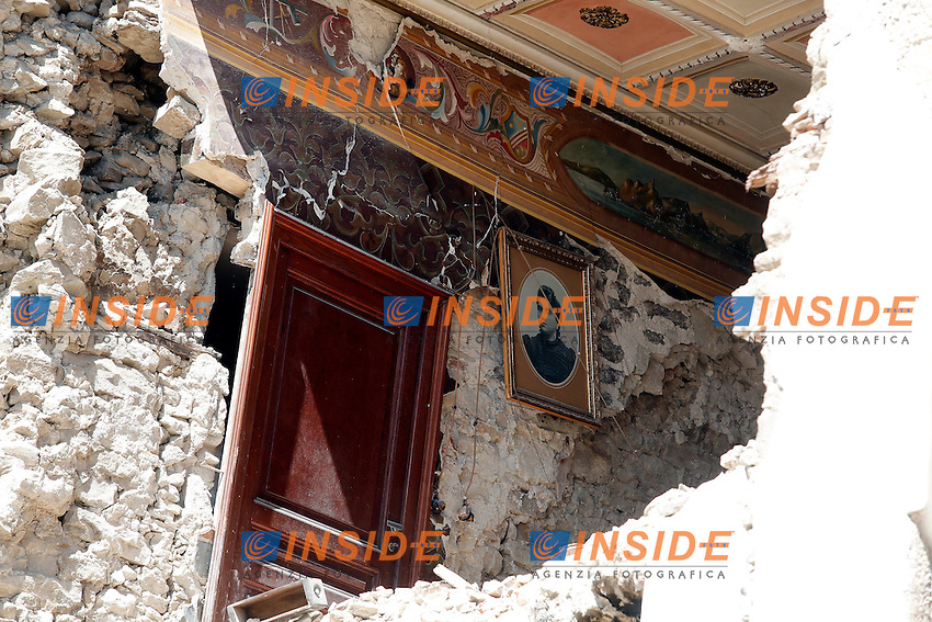 Buildings and houses damaged . Case ed edifici danneggiati <br /> Accumoli ( Rieti ) 24-08-2018 <br /> Central Italy was struck by a earthquake of 6.2 magnitude during the early hours if August 24 2016 <br /> Foto Samantha Zucchi/Insidefoto