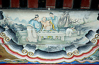 Changlang covered gallery painted cellar, Summer Palace, Beijing, China.