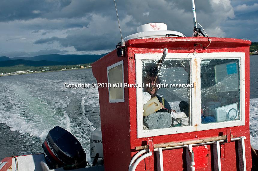 Cod Fisherman in wheel house