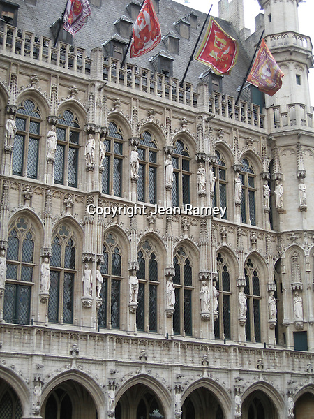 Ornate facades of the Grand Place - Brussels, Belgium