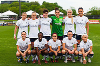 Seattle Reign FC staring eleven. Sky Blue FC defeated the Seattle Reign FC 2-0 during a National Women's Soccer League (NWSL) match at Yurcak Field in Piscataway, NJ, on May 11, 2013.