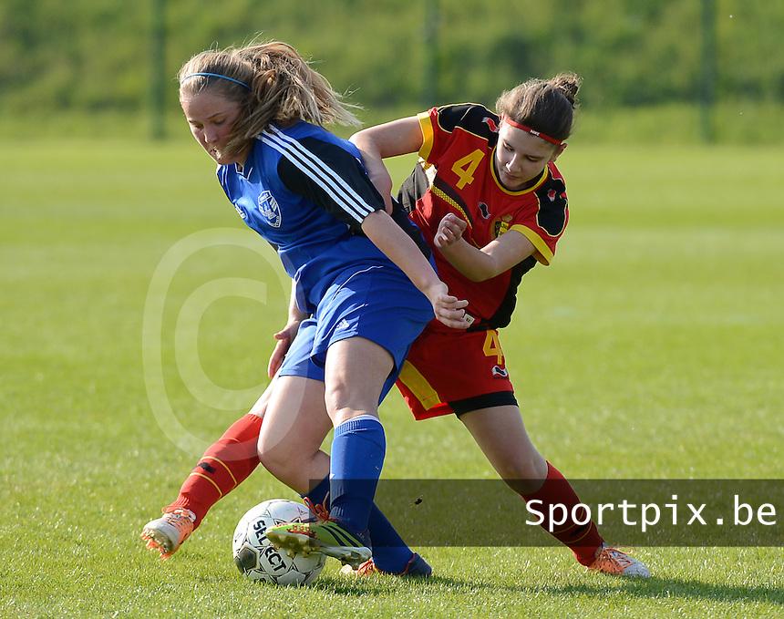 U 16 Belgian red Flames - virginia USA :<br /> <br /> Duel tussen Kirsten Raemdonck (R) en Laurel Ness (L)<br /> <br /> foto Dirk Vuylsteke / Nikonpro.be