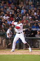 AFL West second baseman Yu Chang (9), of the Glendale Desert Dogs and Cleveland Indians organization, at bat during the Fall Stars game at Surprise Stadium on November 3, 2018 in Surprise, Arizona. The AFL West defeated the AFL East 7-6 . (Zachary Lucy/Four Seam Images)