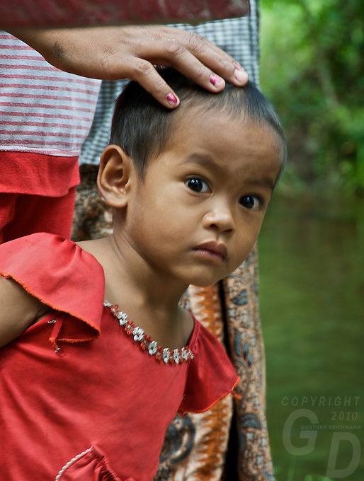 Young Boy at the  River of a thousand Lingas, Phom Kulen, Cambodia