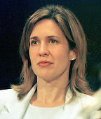 Dana Reeve, wife of actor/director Christopher Reeve, listens to the testimony during the United States Senate Labor, Health and Human Services, and Education Subcommittee hearing on funding medical research in Washington, D.C. on June 5, 1997.  Dana Reeve passed away on March 6, 2006 of lung cancer..Credit: Ron Sachs / CNP