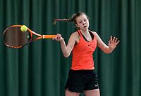 Wateringen, The Netherlands, March 14, 2018,  De Rhijenhof , NOJK 14/18 years, Jody Faber (NED)<br /> Photo: www.tennisimages.com/Henk Koster