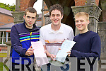 Shane Young, Paraic Mcelligott and Chris Grey Leaving Certificate Brookfield College, Tralee