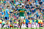 Michael Fitzsimons, Dublin and David Clifford, Kerry  after the GAA Football All-Ireland Senior Championship Final match between Kerry and Dublin at Croke Park in Dublin on Sunday.